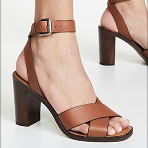 DV NALA Block Heel Leather Sandals